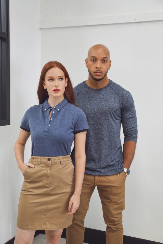 Models in the Lawson Chino, a contemporary hospitality look