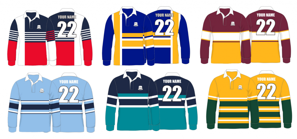 2022 Rugby jerseys