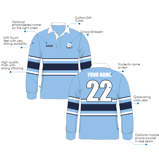 Year 12 Jersey features